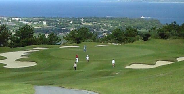 ベルビーチゴルフクラブのパー3の景色