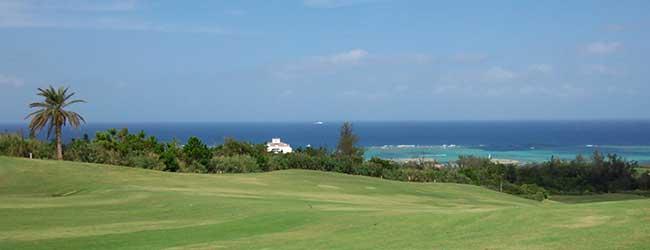 PGMゴルフリゾート沖縄、デイゴコースから見える景色