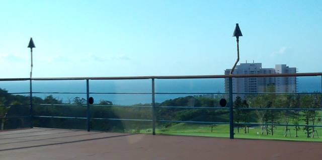 喜瀬カントリークラブのレストランから見える風景