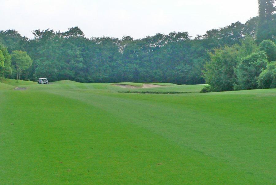 新武蔵丘ゴルフコース INコース16番ホール 3打目地点