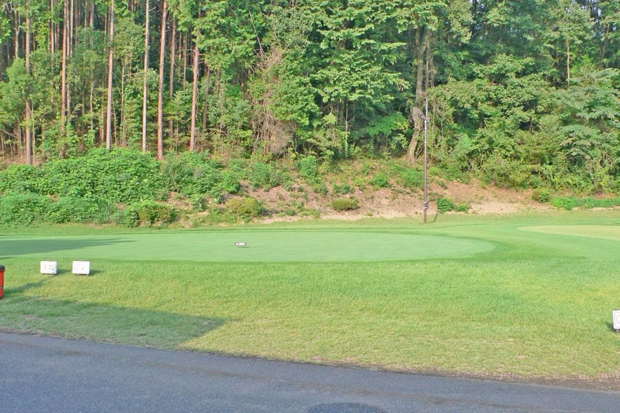 新武蔵丘ゴルフコースの練習グリーン