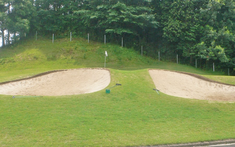 アクアラインゴルフクラブのバンカー練習場