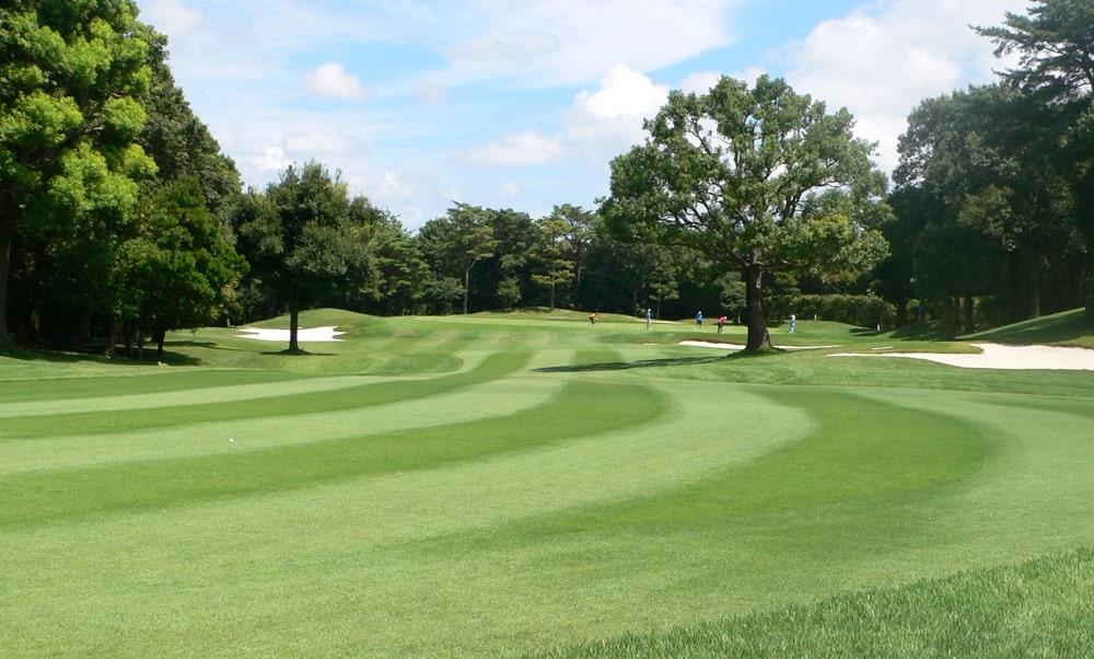 立野クラシック・ゴルフ倶楽部インコース17番ホール 2打目地点
