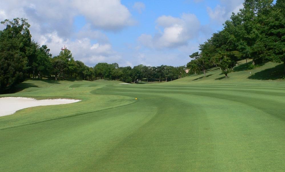 立野クラシック・ゴルフ倶楽部アウトコース3番ホール 2打目地点からグリーンまで