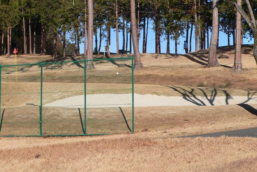 武蔵丘ゴルフコースのバンカー練習場