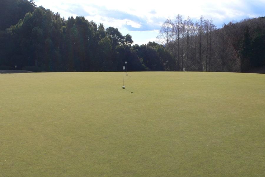 武蔵丘ゴルフコースの練習グリーン