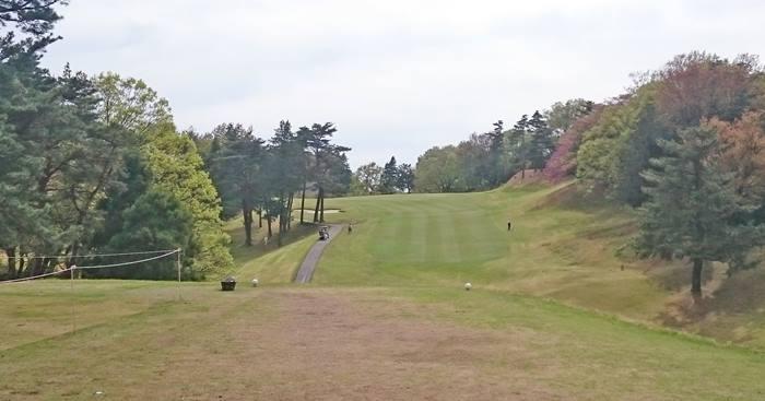 東京国際ゴルフ倶楽部インコース10番ホールのコースレイアウト