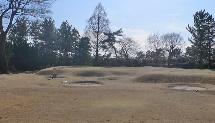 浦和ゴルフ倶楽部INコース13番ホール3打目地点