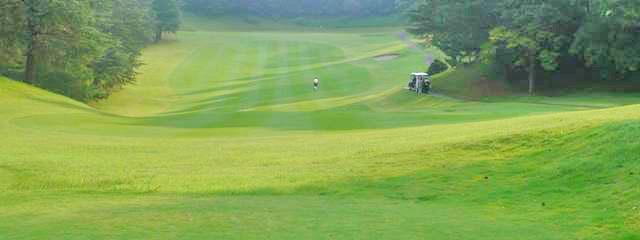 東京国際ゴルフ倶楽部INコース13番ホールのコースレイアウト
