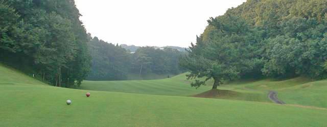 東京国際ゴルフ倶楽部INコース17番ホールのコースレイアウト