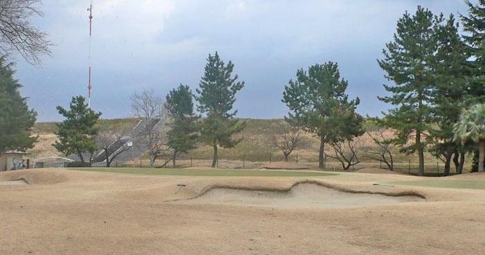浦和ゴルフ倶楽部OUTコース9番ホールのグリーン周り