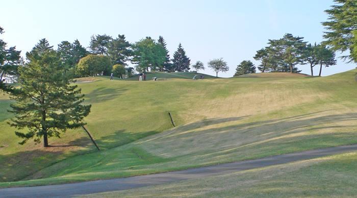 東京国際ゴルフ倶楽部OUTコース6番ホールのコースレイアウト