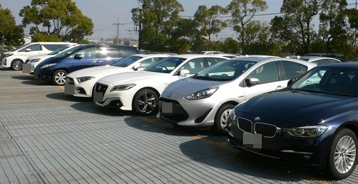 浦和ゴルフ倶楽部の駐車場