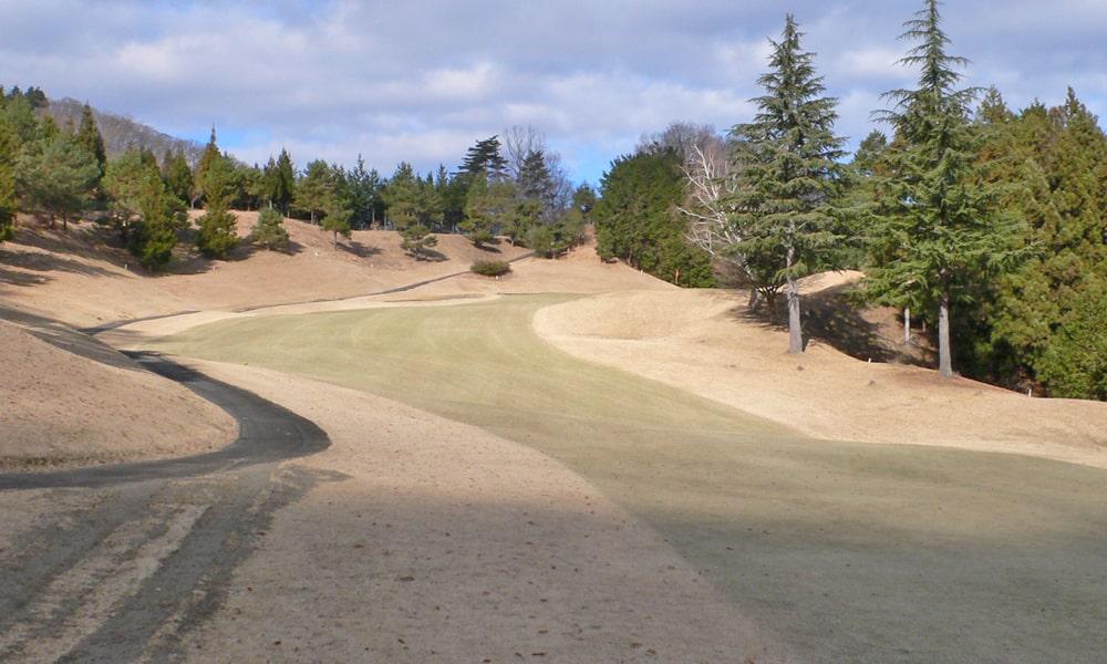 桜ヒルズゴルフクラブ(旧秋山カントリークラブ)インコース12番ホール 2打目地点