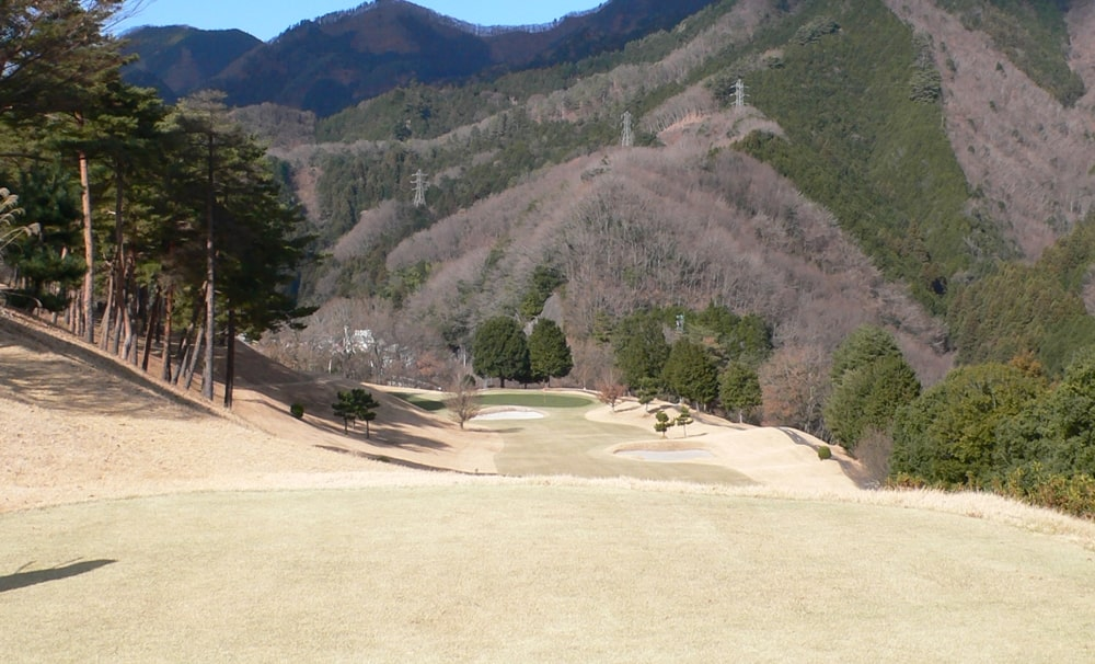 桜ヒルズゴルフクラブ(旧秋山カントリークラブ)インコース17番ホール