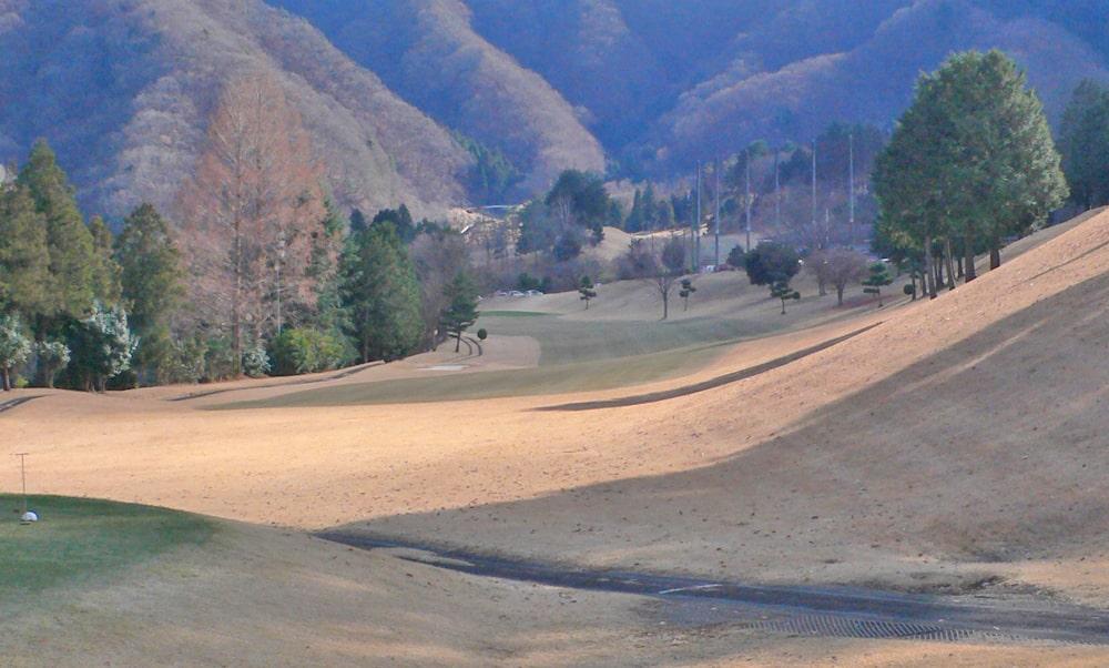 桜ヒルズゴルフクラブ(旧秋山カントリークラブ)インコース18番ホール