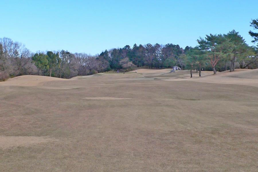 武蔵丘ゴルフコース INコース16番ホール グリンまではこんな感じです