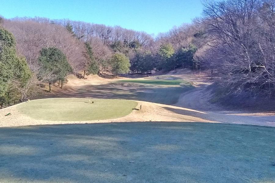 清澄ゴルフ倶楽部のINコース13番 パー3